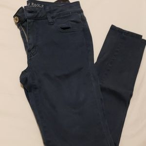 American Eagle Teal/Blue Jeans